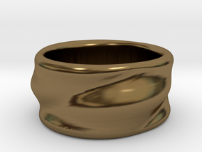 Flow Ring in Polished Bronze: 6 / 51.5