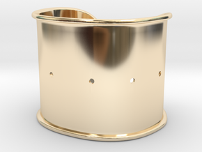 "Cuff Band Only - Bent (for wrists 2""W x 1.5""H) in 14k Gold Plated Brass"