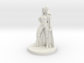 Female Fire Sorcerer in White Natural Versatile Plastic