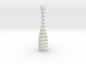 Vase 09 in White Natural Versatile Plastic