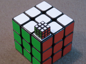 12mm 3x3 Puzzle in Smooth Fine Detail Plastic