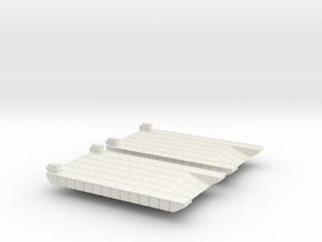 1/300 Small Rhino Ferry in White Natural Versatile Plastic
