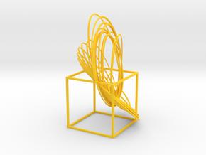 Cassini Equinox - cube in Yellow Processed Versatile Plastic