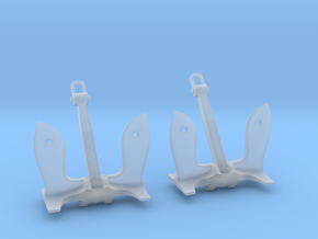 1/160 USN Stockless (6.000 lb.) Set in Smooth Fine Detail Plastic