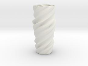 Vase ictor01 in White Natural Versatile Plastic