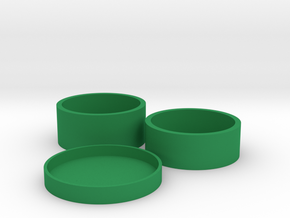 Okito Boston Set British 2 Pound (£2) in Green Processed Versatile Plastic