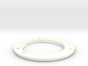 Fuji mount ring for PD Nikon capture lens in White Processed Versatile Plastic