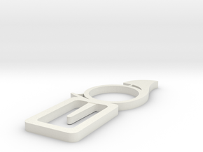 Horn bookmark in White Natural Versatile Plastic