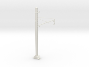 PRR 2T BRACKET 2.5 STEADY CURVE in White Natural Versatile Plastic
