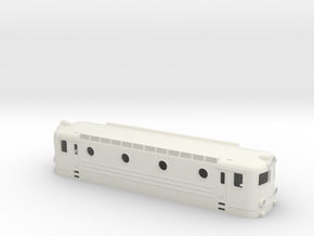 Swedish TGOJ electric locomotive type Bt - H0-scal in White Natural Versatile Plastic