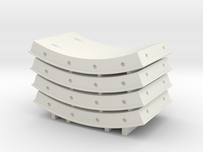 N Scale Tunnel Segments in White Natural Versatile Plastic