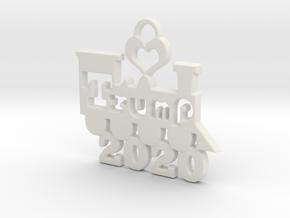Trump Victory 2020 in White Natural Versatile Plastic