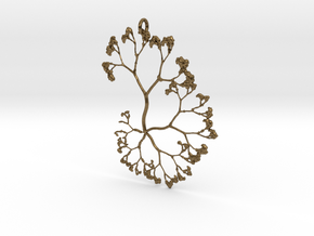 Fractal Trees Pendant in Natural Bronze