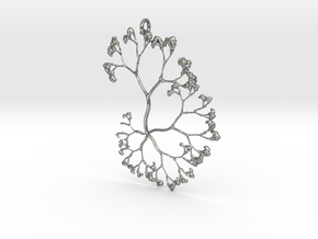 Fractal Trees Pendant in Natural Silver