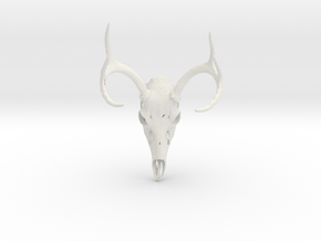 6-point Buck  in White Natural Versatile Plastic
