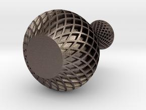 spiral-vase in Polished Bronzed Silver Steel