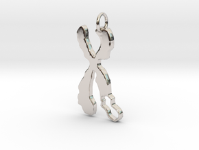 Chromosome Deletion Pendant in Rhodium Plated Brass