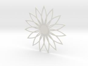 Coaster_4 in White Natural Versatile Plastic