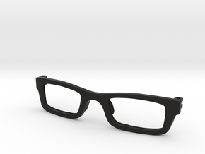 Frame for eyeglasses in Black Natural Versatile Plastic