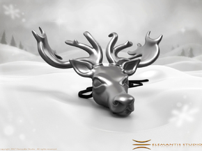 Reindeer Pendant in Stainless Steel: Small