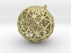 Platonic Pendant #1 in 18k Gold Plated Brass