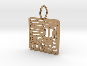 Bronx Necklace Pendant in Polished Brass