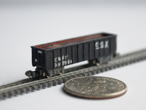 T Gauge 8 Hopper Car Set in Frosted Extreme Detail