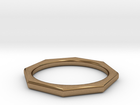 Octagon Ring in Natural Brass: 6 / 51.5