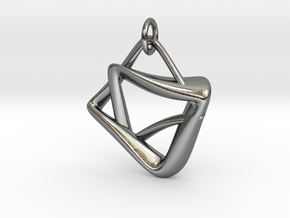 heptagram Knot in Interlocking Polished Silver: Medium