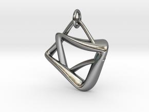 heptagram Knot in Polished Silver (Interlocking Parts): Medium