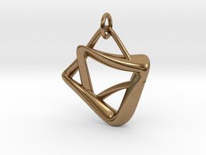 heptagram Knot in Natural Brass (Interlocking Parts): Medium