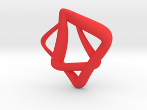 heptagram Knot in Red Processed Versatile Plastic: Small