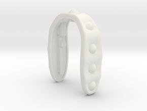 KEY FOB #49  in White Premium Versatile Plastic