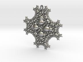 Sph Fractal Pendant in Natural Silver