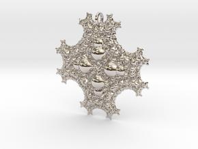 Sph Fractal Pendant in Platinum