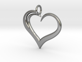 Heart to Heart Pendant V3.0 in Natural Silver