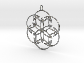 Cosmos Knot Pendant in Polished Silver