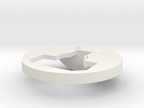 Custom Works Hub Rock Guard in White Strong & Flexible