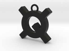 Quantstamp keychain in Black Natural Versatile Plastic