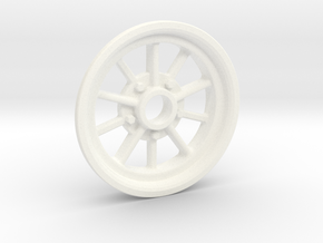 1:8 10 Spoke Spindle Mount in White Processed Versatile Plastic