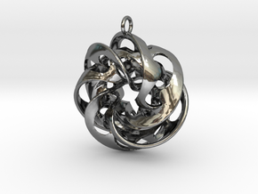 HalfPipe-3 in Fine Detail Polished Silver