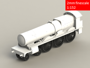 GWR 2900 Class locomotive, straight frame, 2mm FS in Frosted Extreme Detail