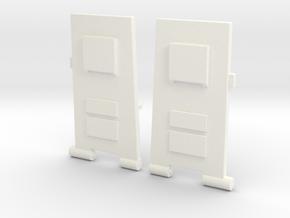 CW to G1 Magnus Legplates in White Processed Versatile Plastic