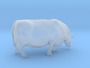 1/64 Polled Grazing Cow Left Turn in Smooth Fine Detail Plastic