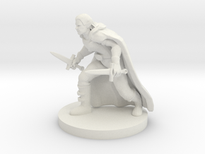 Half Elf Rogue in White Premium Versatile Plastic