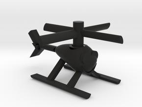 Happy Heli with moving parts in Black Premium Versatile Plastic