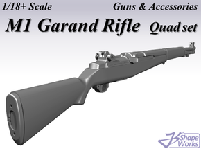 1/18+ M1 Garand Rifle Quad set in Smoothest Fine Detail Plastic: 1:18