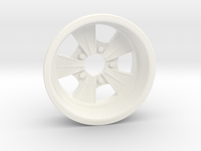 1:8 Rear Radir Style Five Spoke Wheel in White Processed Versatile Plastic