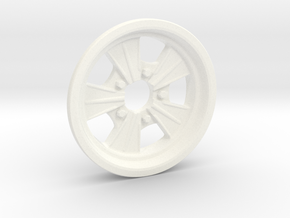 1:8 Front Radir Style Five Spoke Wheel in White Processed Versatile Plastic