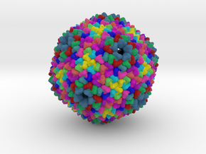 Bacteriophage PRD1 in Full Color Sandstone